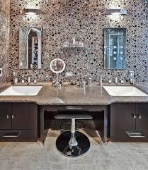 sea glass tiles bathroom traditional with mirror top vanities