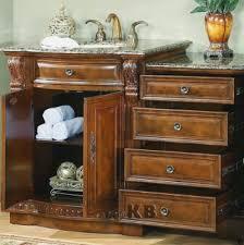 high quality 53 bathroom vanity cabinet with granite top single