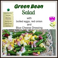 green bean salad syrup and biscuits