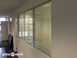 glazed frameless glass office partitioning