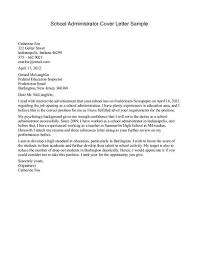 ideas of cover letters for administrators for your job
