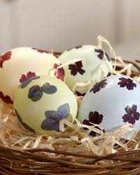 pressed flower eggs martha stewart