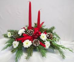 christmas table flower arrangement ideas classy design ideas of christmas table center piece with green