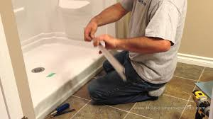 Glass Shower Door Handle Replacement Parts by How To Install Glass Sliding Shower Doors Youtube