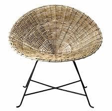 chaise kubu fauteuil chaise kubu rotin natte naturel bloomingville