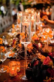 Vases With Floating Candles Reception Décor Photos Tall Floating Candles Inside Weddings