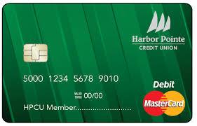 debit card debit mastercard harbor pointe credit unionharbor pointe credit union