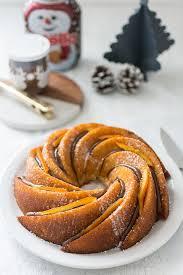 recettes cuisine noel recette de bundt cake orange et nutella stella cuisine