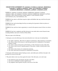 5 common law separation agreement template bc purchasesample