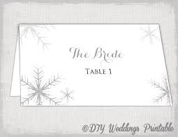 templates for snowflakes winter wedding place card template snowflakes