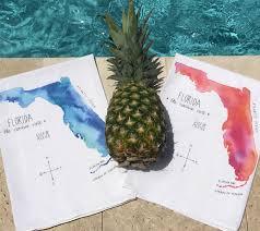 Watercolor Florida Map by Watercolor Map Art Gourmet Towels