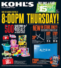 kohl s black friday ad black friday deals kohls