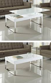 white coffee table with storage foter