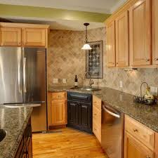 natural maple cabinets with granite maple cabinets dislike the back splash floor but like colors in