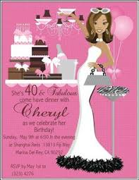 pink u0026 black forty and fabulous 40th birthday invitations di 445