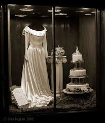 bridal window display from refined design studio at mannequin