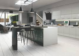 grey high gloss slab style kitchens vivo grey high gloss slab kitchen units