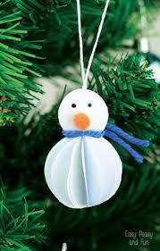 easy paper snowman ornaments easy paper crafts ornament