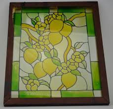 stained glass window decoration lemon design wall hanging 24