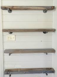 Wooden Shelves Diy by Best 25 Pipe Shelves Ideas On Pinterest Industrial Shelving