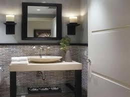ideas gray small modern half bathroom teal accents accessories