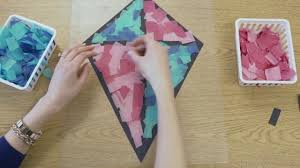 stained glass tissue paper kite decorations in high speed youtube