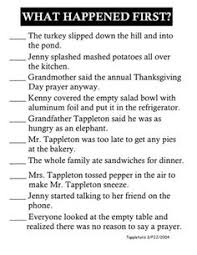 thanksgiving at the tappletons sequence of events thanksgiving