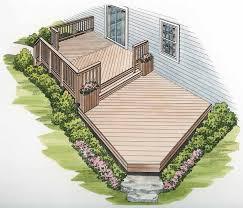 Simple Backyard Landscaping Ideas Best 25 Deck Plans Ideas On Pinterest Deck Design Wood Deck