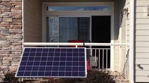small apartment balcony solar power setup part 1 youtube
