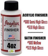 angelus paint duller finish for acrylic leather paint non glossy