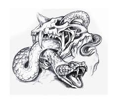 grey ink snakes design