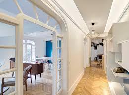 renovation appartement haussmannien design nordique double séjour art déco