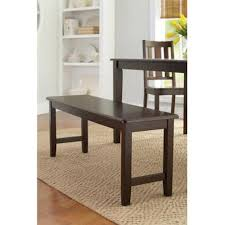 Tables With Bench Seating Amazon Com Better Homes And Gardens Brown Two Seat Dining Bench