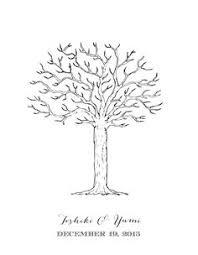 canvas wedding tree guest book hand drawn fingerprint tree print