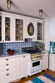 Blue Backsplash Tile by 46 Best Blue U0026 White Tiled Kitchen Images On Pinterest Tiles