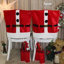 santa hat chair covers buy 2pc santa shirt christmas decorations santa claus chair covers