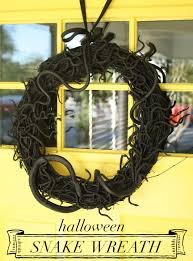 diy halloween snake wreath rosemary on the tv