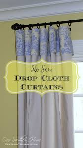 Hemming Tape Curtains No Sew Drop Cloth Curtains Our Southern Home