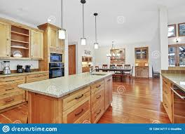 pictures of light wood kitchen cabinets beautiful kitchen with light wood cabinets stock image