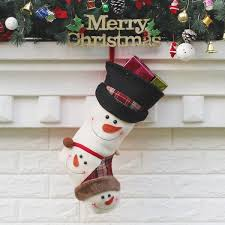 Christmas Decorations Wholesale Nz by Wholesale Christmas Decor Sock Snowmen Pattern Gifts Bag White