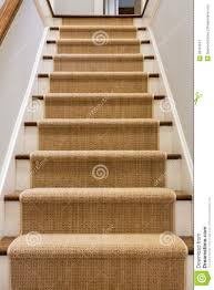 wooden staircase with carpet runner stock photo image 39161847