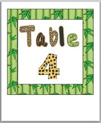 themed table numbers jungle safari themed table number labels classroom