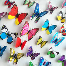 home decor 3d stickers wall stickers 3d pvc butterfly wall stickers beauty your living