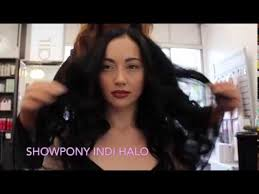 showpony hair extensions how to apply the showpony indi halo hair extension