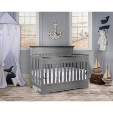 Gray Convertible Cribs by On Me Chesapeake 5 In 1 Convertible Crib