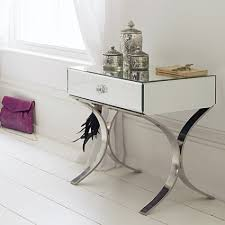 Bed Side Desk Furniture Single Drawer Mirrored Side Table With Door For Home