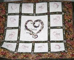 wedding quilt sayings custom made wedded bliss wedding anniversary outonawhim