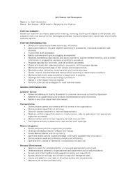 Customer Service Description For Resume Retail Sales Representative Job Description Resume Free Resume