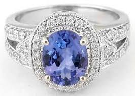 rings with tanzanite images Tanzanite diamond ring in 14k white gold with milgraing edging gr jpg