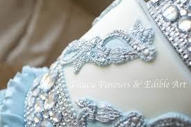 blue u0026 diamond wedding cake in birmingham u0026 diamante tier